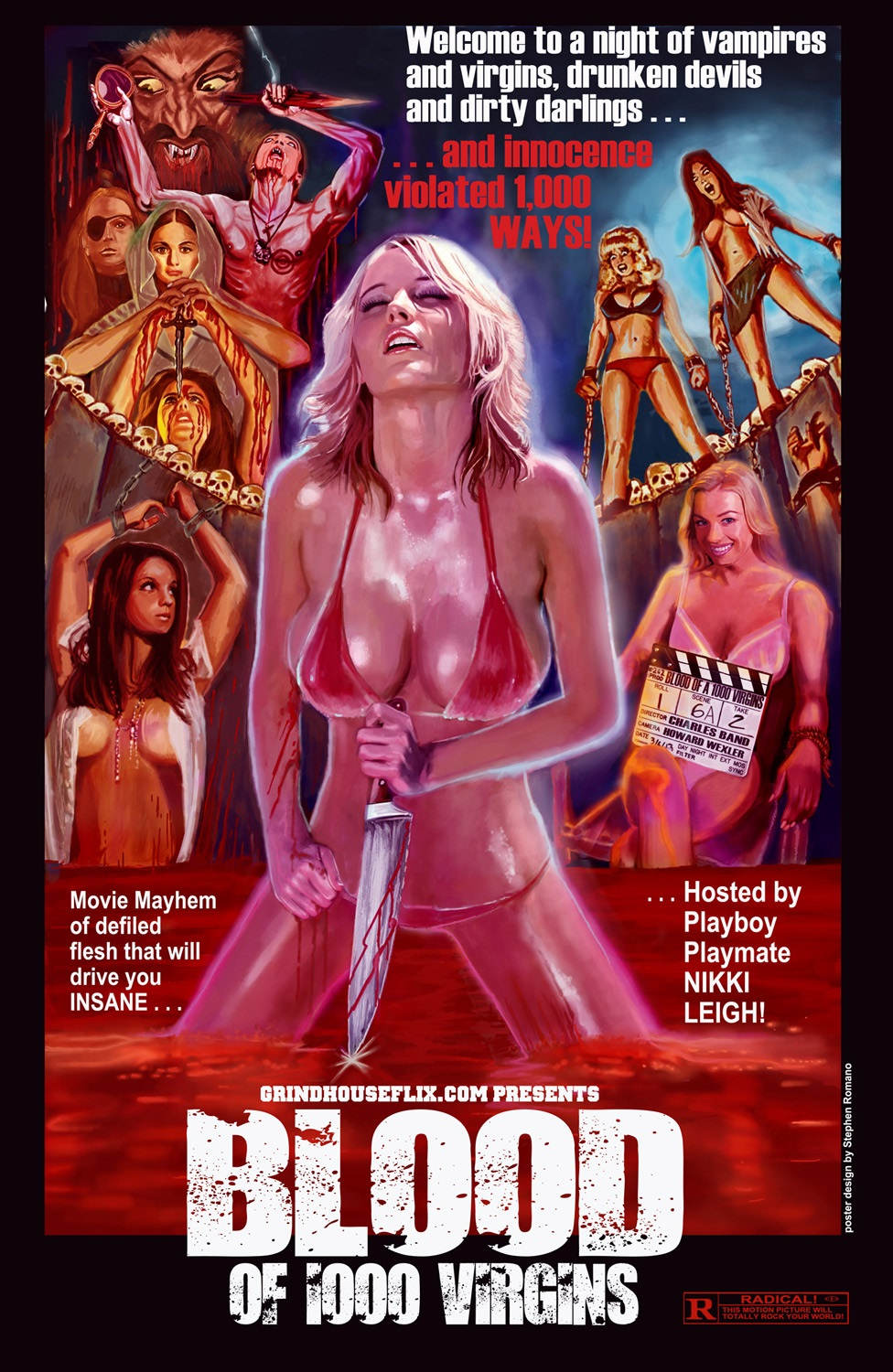 "Playmate Stars In ""Blood Of 1000 Virgins,"" Premiering On Full Moon's GrindhouseFlix On Tuesday, May 14"